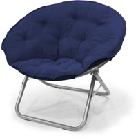 Deals on Mainstays Large Microsuede Saucer Chair, Multiple Colors
