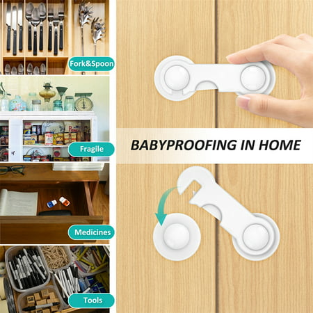 Child Safety Cabinet Locks,Ablegrid 6PCS Child Safety Cupboard Locks Baby Proofing Cabinet Locks for Drawers Kitchen