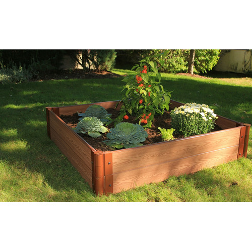 Frame It All 4 ft. x 4 ft. Composite Raised Garden Planter