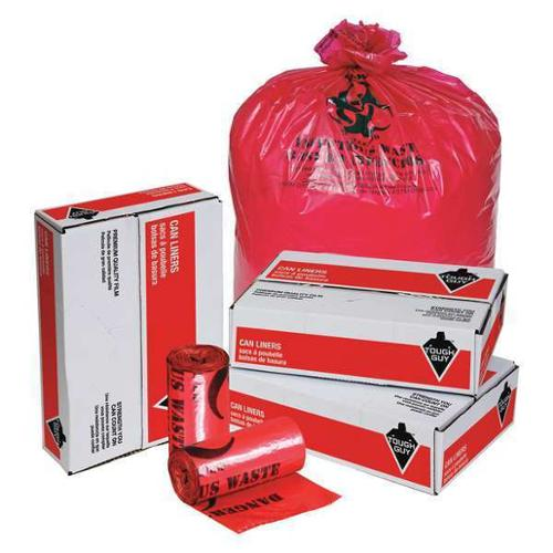 Tough Guy 31DL01 Red Linear Low Density Polyethylene 33 gal. Trash Bag