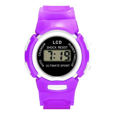iLH Mallroom Children Girls Analog Digital Sport LED Electronic Waterproof Wrist Watch New