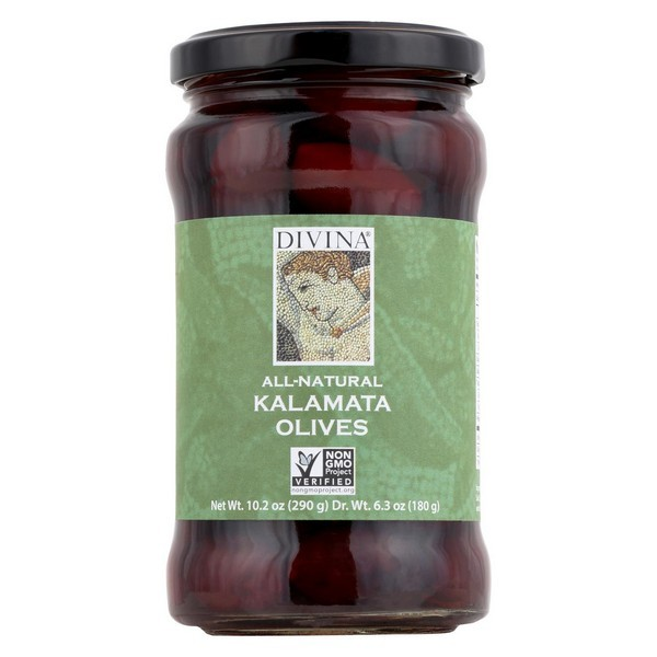 Divina Kalamata Olives - pack of 6 - 6.3 Oz.
