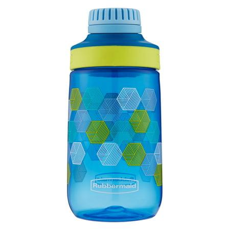 Water Bottles For Kids (Rubbermaid 14 oz. Leak-Proof Chug Kids Water Bottle, Folded Hexagons)