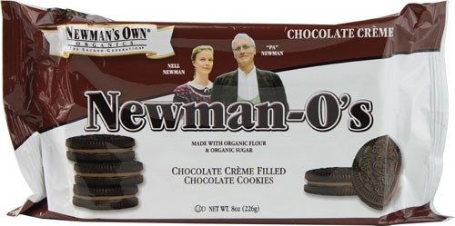 (4 Pack) Newman Own Organics Newman-O's Chocolate Creme Filled Chocolate Cookies, 8.0 OZ
