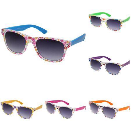 Kids Party Sunglasses  - Neon Assorted Pattern Novelty Frame For Party Favors Decorations Gifts  - For Kids and Teenagers - Kids Sunglasses Party Favors