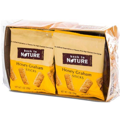 Back To Nature Mini Honey Graham Sticks - Snack Pack Case...