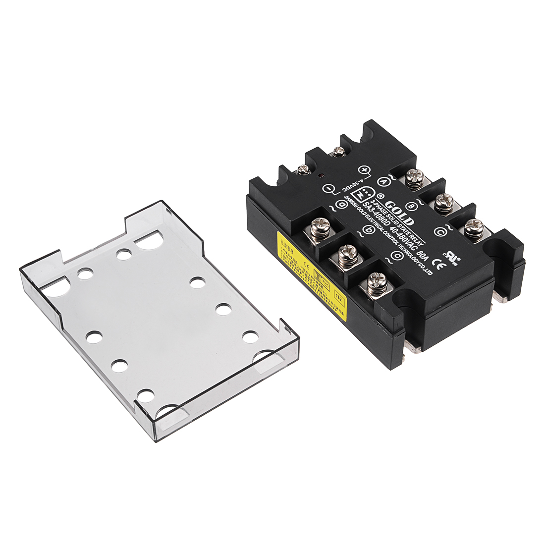 SA34080D 4-32VDC to 40-480VAC 80A Three Phase Solid State Relay Module DC to AC