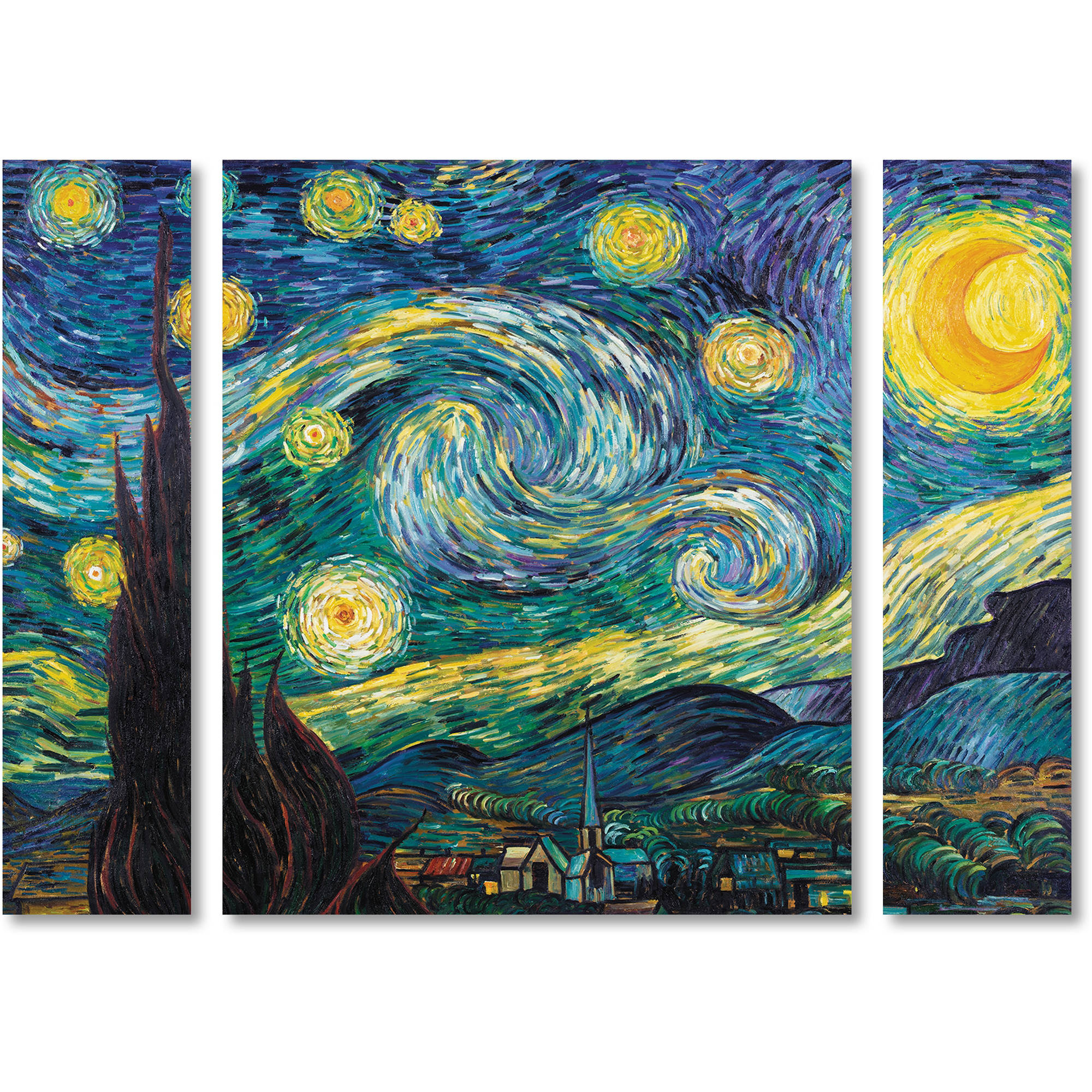 Starry Night Vincent van Gogh Poster of Painting Fine Art Giclee/' 24x36 inch
