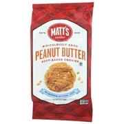 (6 Pack) Matt'S Bakery Peanut Butter Soft-Baked Cookies, 14 Oz.