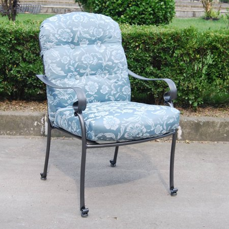 Mainstays Willow Springs Outdoor Dining Chair, Blue, Set of 5 ()