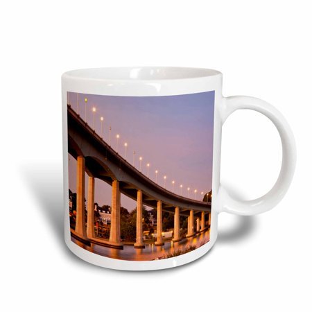 3dRose Maryland, Annapolis. Severn River bidge, dawn - US21 WBI0017 - Walter Bibikow, Ceramic Mug, 11-ounce