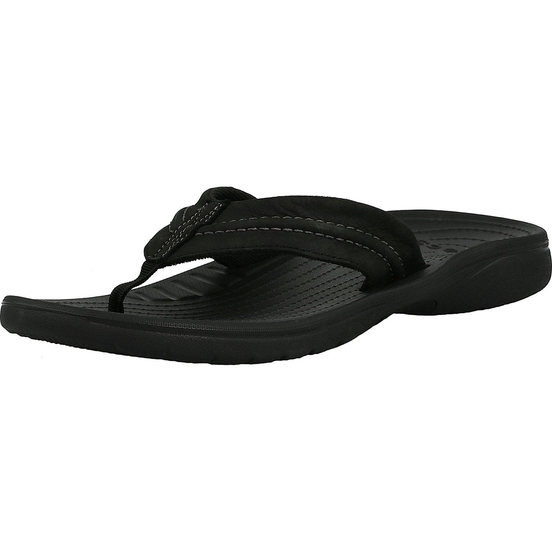 Crocs Men's Yukon Mesa Flip Black / Black Ankle-High Leat...