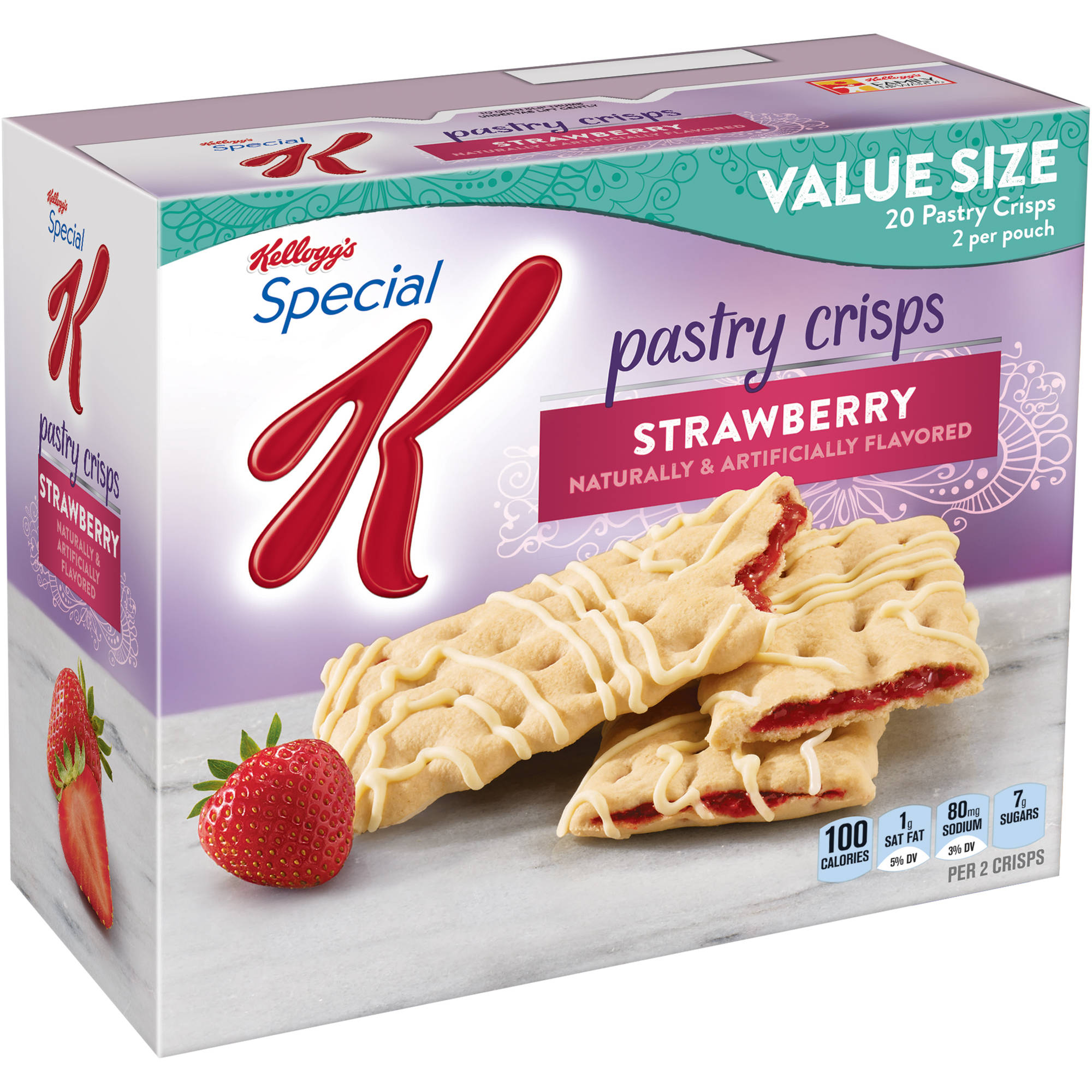 Kellogg's Special K Strawberry Pastry Crisps, 0.88 oz, 10 count