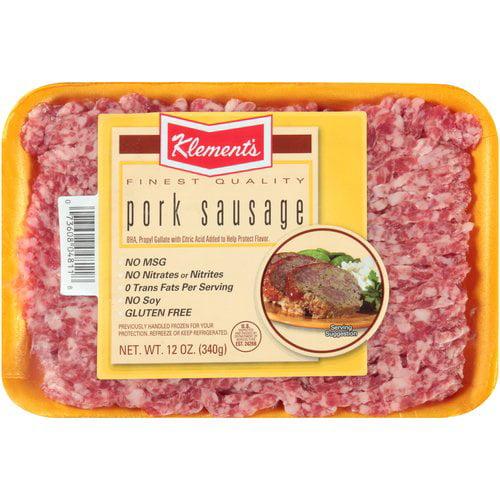 Klement's Ground Pork Sausage, 12 oz