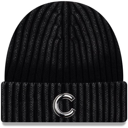 04f597785a8 Chicago Cubs New Era Winter Wind Cuffed Knit Hat - Black - OSFA ...