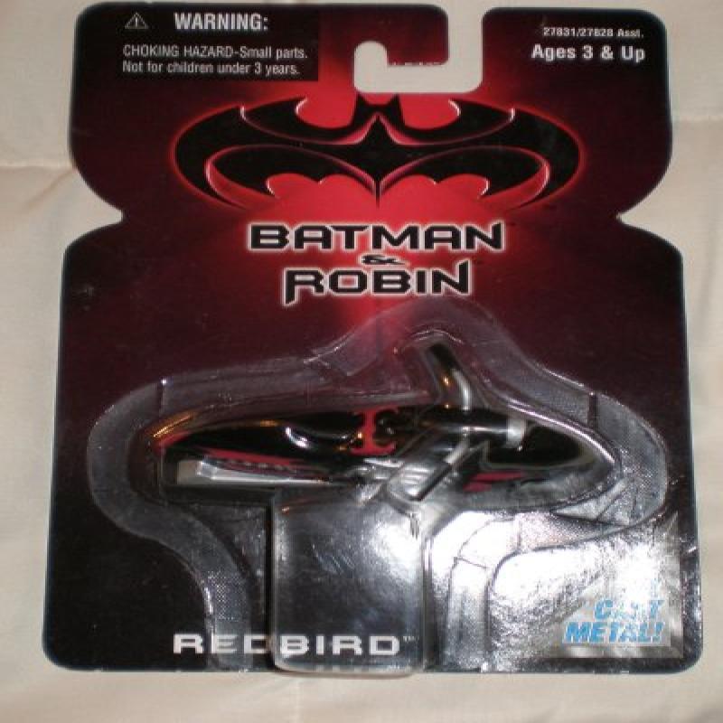Hasbro Batman and Robin Redbird Motorcycle Die Cast Metal...
