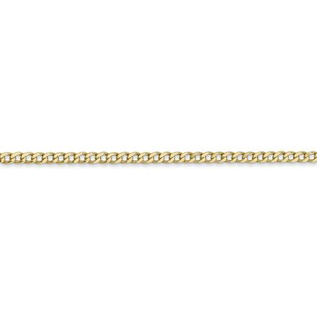 Quality Gold BC124-10 Cha-ne - maillons semi-solides en or jaune 14K, 2,5 mm x 10 po - image 3 de 4