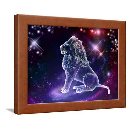 Lions Framed Wall - Leo Lion Framed Print Wall Art By Helein