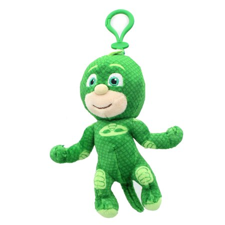 PJ Masks Clip-On Gekko Plush Key chain Coin Clip On BOOK Bag GREEN Keychain