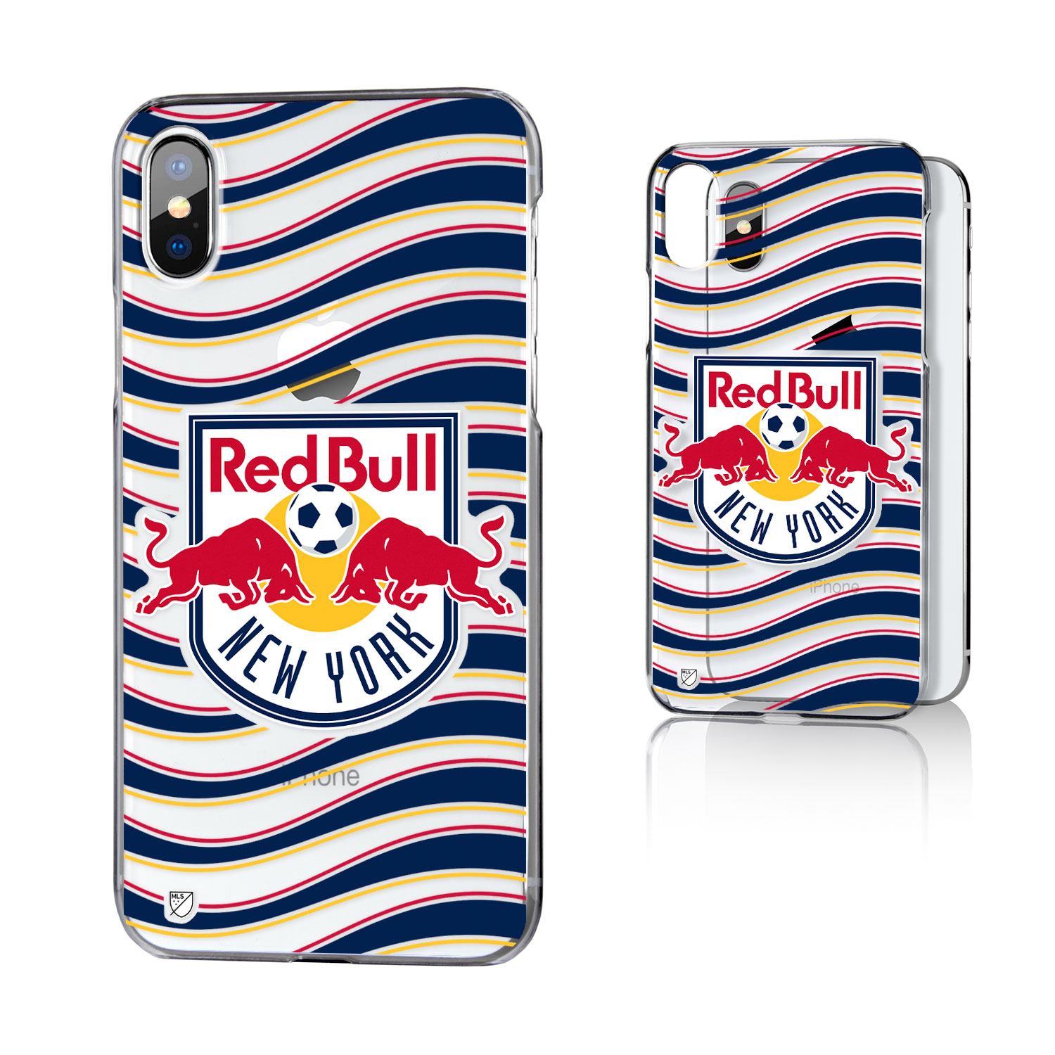 New York Red Bulls RED BULLS Wave Clear Case for iPhone X