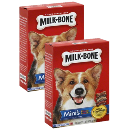 (2 Pack) Milk-Bone Mini's Flavor Snacks Dog Biscuits,