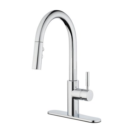 Oakbrook 4877312 Vela Pull-Down One Handle Chrome Pulldown Kitchen Faucet
