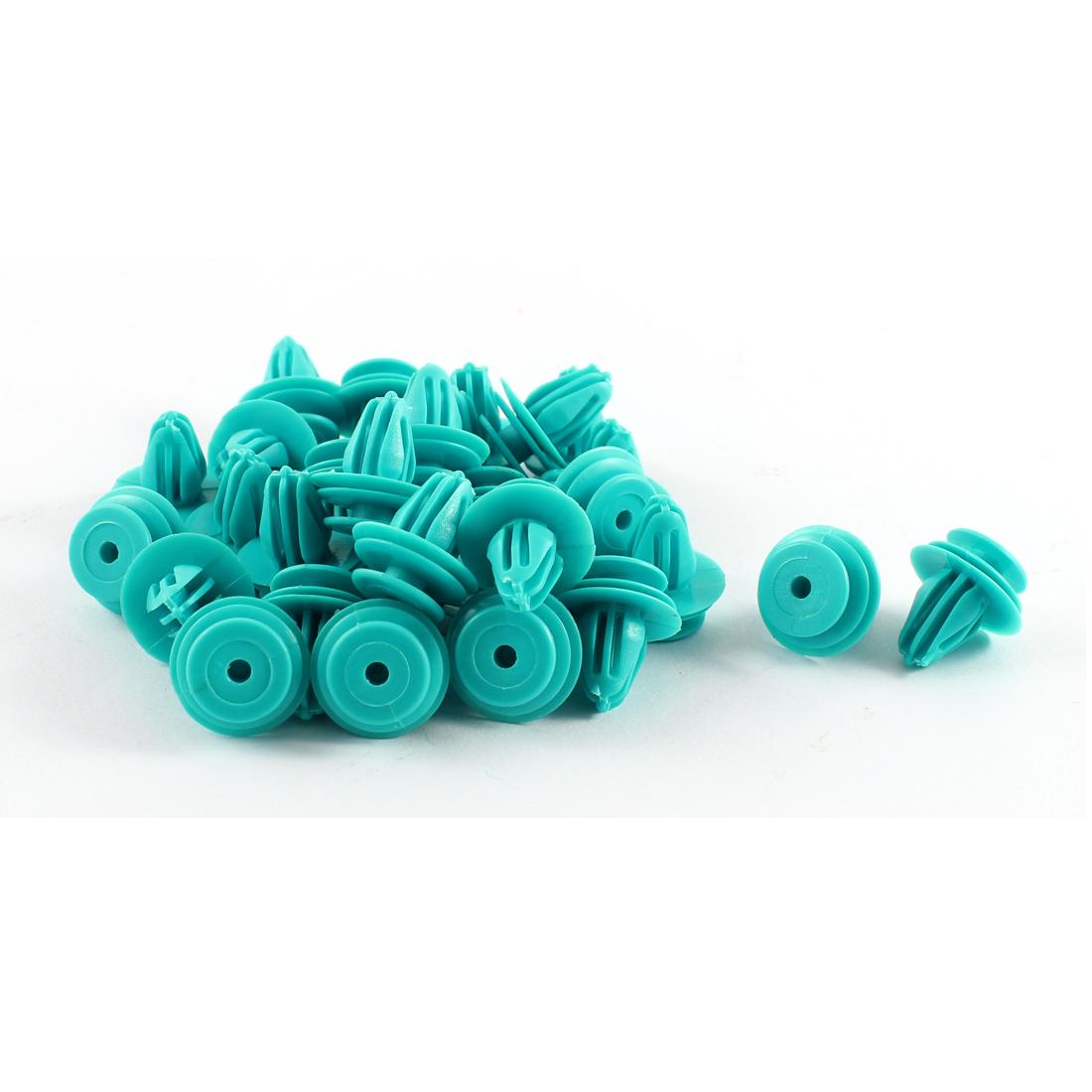 30 Pcs Blue Plastic Splash Guard Fastener Rivet Clips 9mm x 13mm x 17mm
