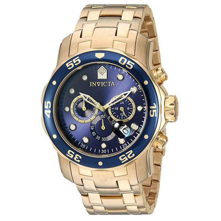 Men's 0073 Pro Diver Quartz Chronograph Blue Dial