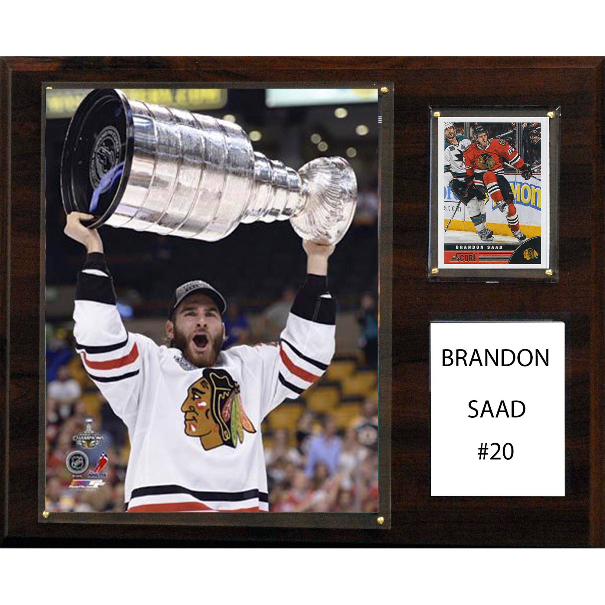 C&I Collectables NHL 12x15 Brandon Saad Chicago Blackhawks Player Plaque