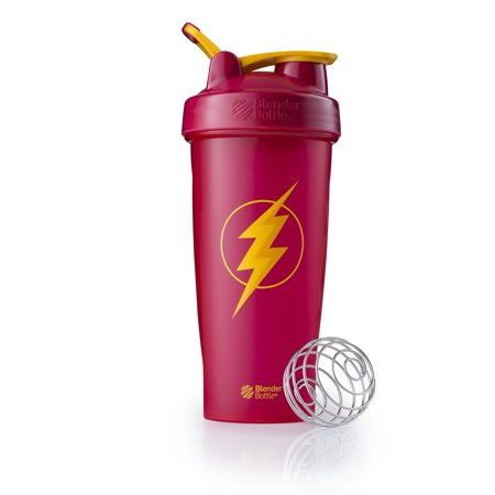 BlenderBottle 28oz Justice League Classic Shaker Cup DC Comics Flash 28 Ounce Blender Bottle