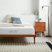 """Lucid 10"""" Gel Memory Foam Medium Firm Mattress"""