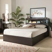 Baxton Studio Blaine Modern and Contemporary Dark Brown Finished Wood Queen Size 6-Drawer Platform Storage Bed