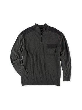 Alfani Mens 1/4 Zip Knit Sweater, grey, Big 2X