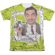 Mr Bean Say Cheese (Front Back Print) Mens Sublimation Shirt