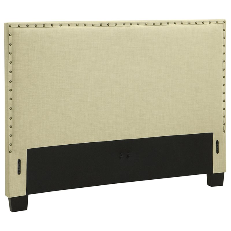 Modus Geneva Upholstered California King Panel Headboard in Tumbleweed by