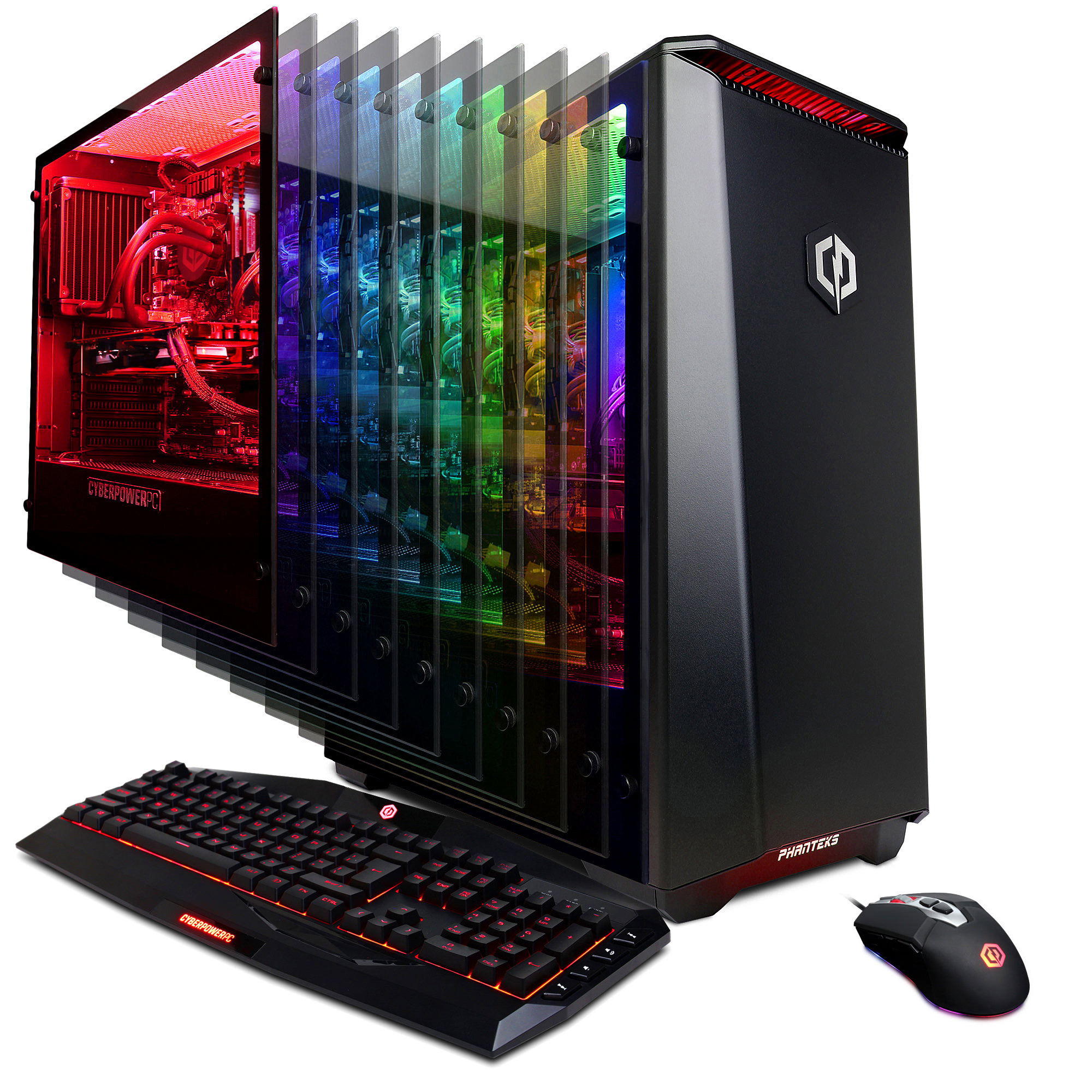 CYBERPOWERPC Gamer Supreme Liquid Cool Gaming Desktop, Intel i9-9900K 3.6GHz, NVIDIA GeForce GTX 1060 6GB, 480GB SSD + 2TB HDD, 16GB DDR4, SLC10680