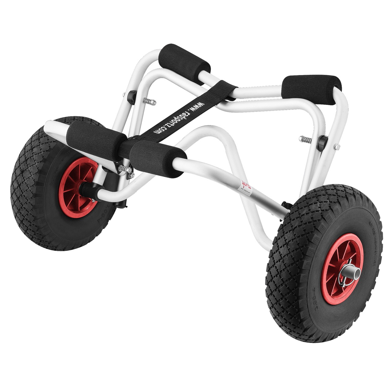 RAD Sportz Kayak Trolley Kayak Cart with Pneumatic Tires 150 LB Capacity Silver