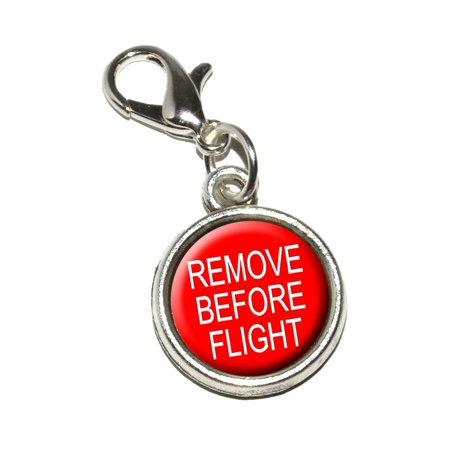 - Remove Before Flight - Airplane Warning Bracelet Charm