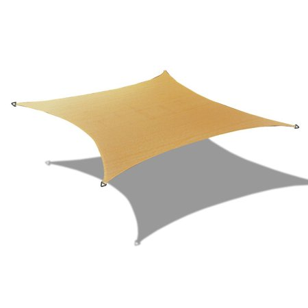Alion Home Alion Home HDPE Square Walnut Sun Shade Sail Permeable Canopy For Patio Pool Deck Porch Garden 19' x