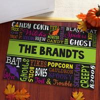Halloween Words Personalized Doormat