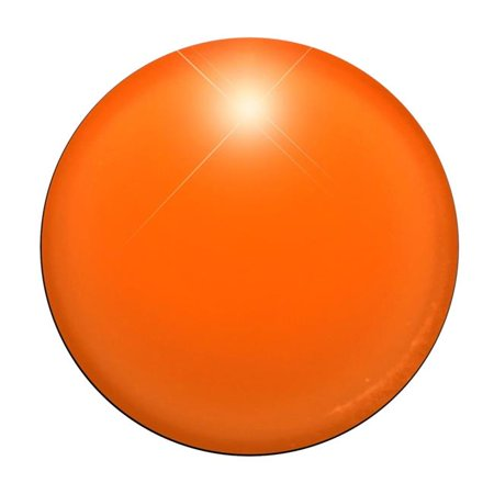 Light Up Round Badge Pin Orange - Pin Up Lights