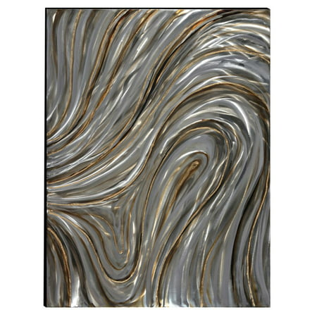 Swirls Hand Painted Aluminum Wood Wall Art Decor by Urban Port](Paint Swirls)