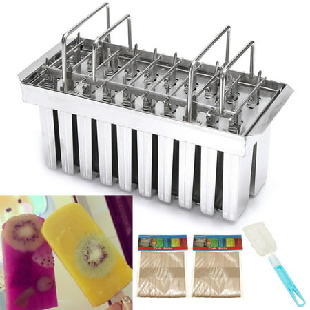 20 Lattice Stainless Steel Molds Ice Lolly Popsicle Ice Cream Stick Holder 115g/108g/83g Square head/Round head/V-Type