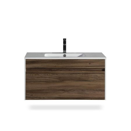 Flairwood Décor The Ivy Collection 36 Inch Floating Modern Bathroom Vanity