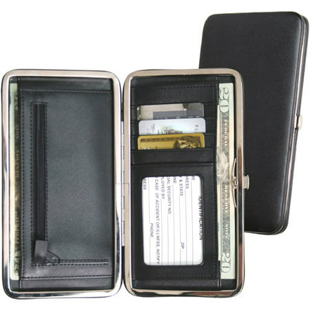 Royce Leather Women's Slim Framed Credit Card Wallet in Genuine Leather