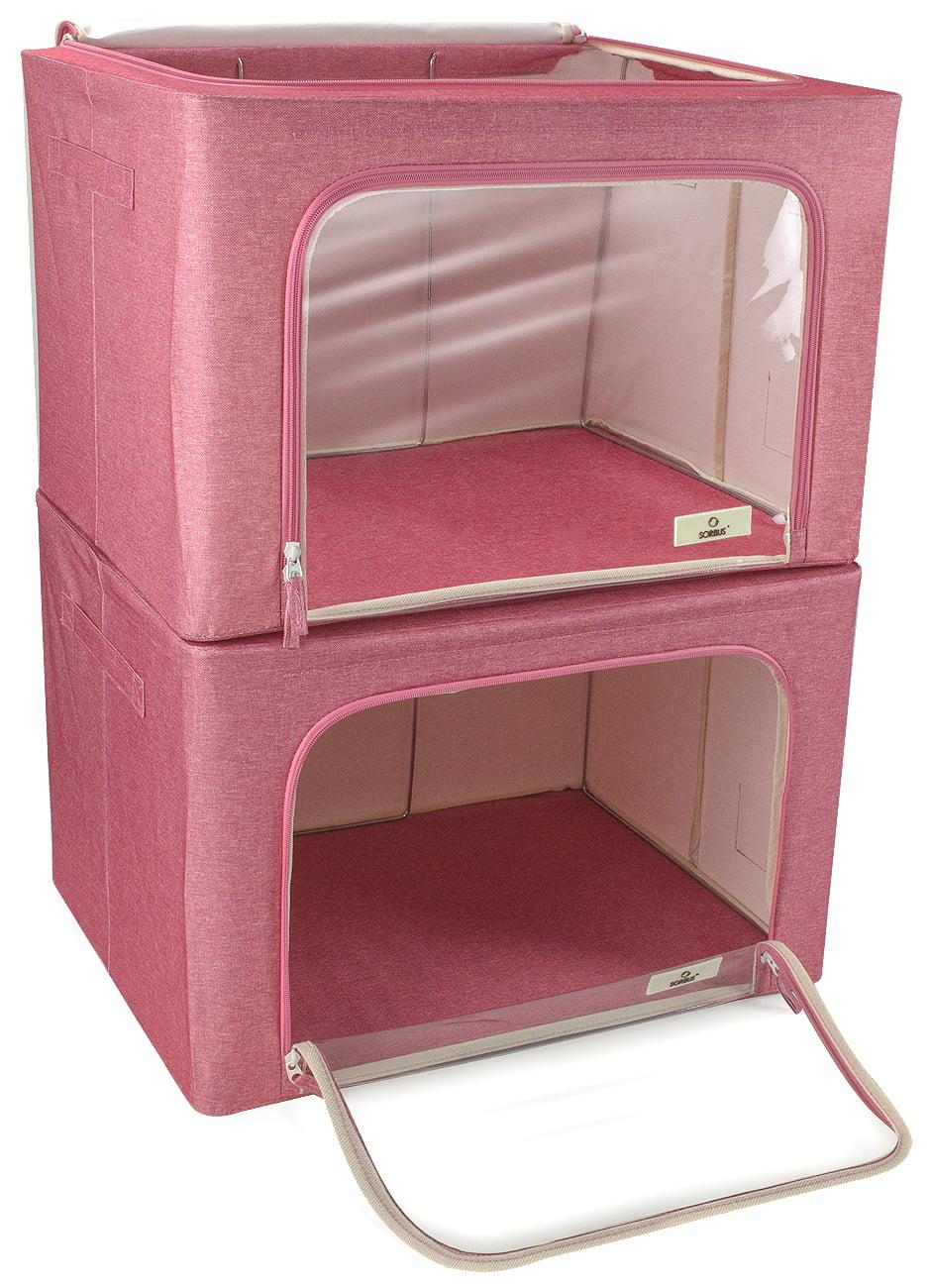 Large Storage Bag Box Foldable Stackable Organizer Bins for Clothes Shelf Closet