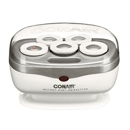 Conair Jumbo Hair Roller Travel Hair set with Clips for Curls and Waves Curl Clips Stainless Steel