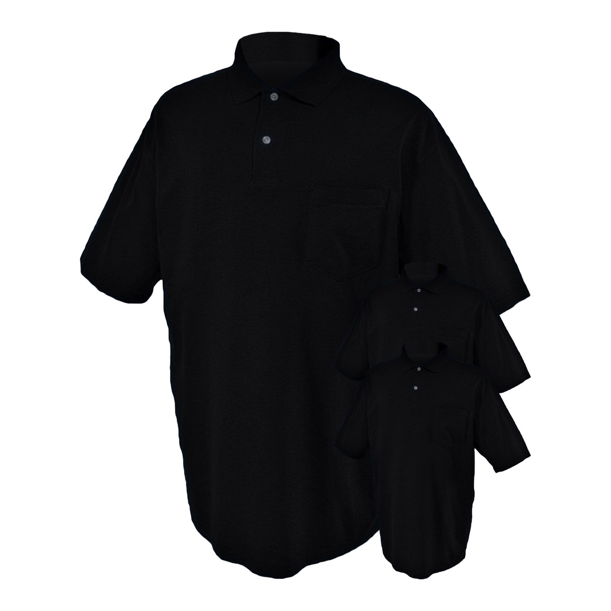 Jerzees Mens SpotShield Pocket Polo Shirt, Pack of 3