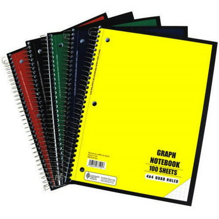 Graphing Notebook - Graph Ruled Notebook, 100 sheet