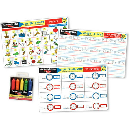 Melissa & Doug Basic Skills Placemat Set - Phonics, Handwriting, and Telling Time](Melissa And Doug Basic Skills Board)